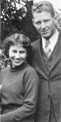 Jack Norman and Sue MacMillan. Plans for their marriage on June 1, 1937, were ended when Norman, a Golden Gate Bridge worker, was killed when a falling platform ripped loose the safety net. His body is believed to have been swept out to sea. Borrowed from here.
