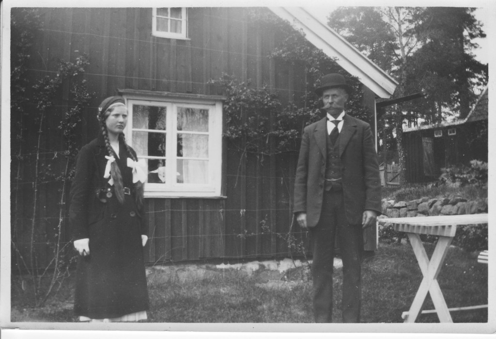 Karl Lindros and daughter Ruth on her confirmation day, probably 1933.