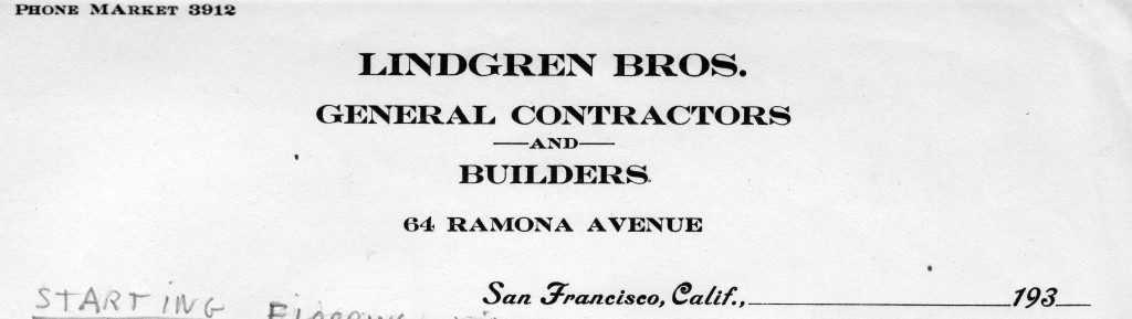 Lindgren Brothers letterhead. Source: Courtesy of Ron Lindgren.