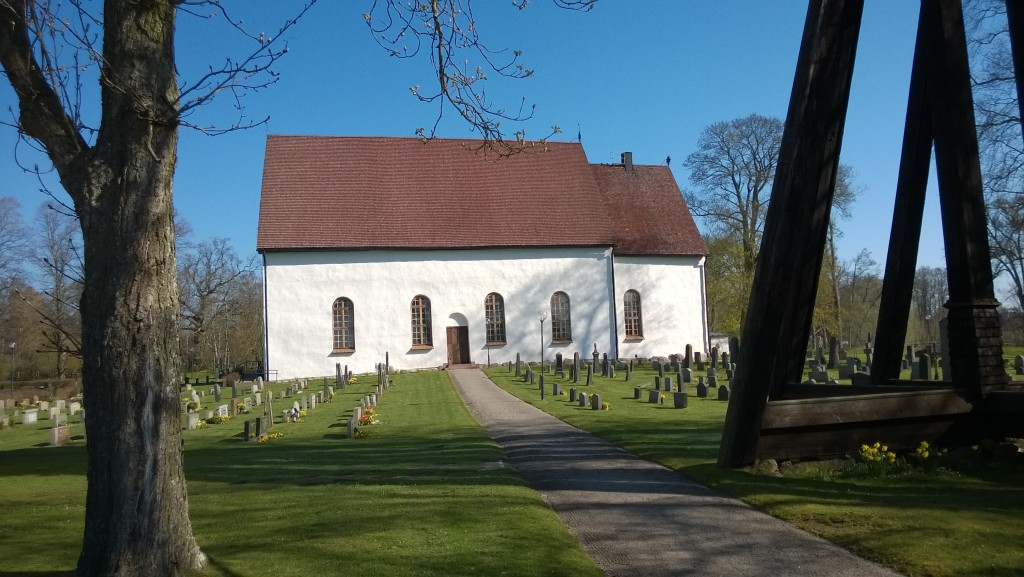Arby Church, Småland province, Sweden, where Karl and Karolina Lindros married in 1901.
