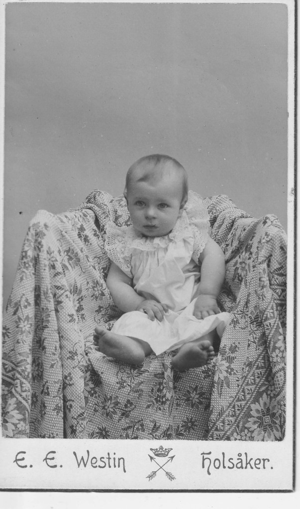 Ebba Lindros, born 1903 in Dala-Floda, Sweden, where this picture was taken.